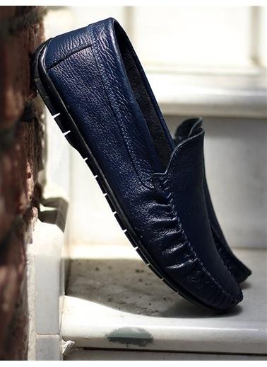 Rodrigo Erkek Lacivert Parlak Loafer Ayakkabı Lacivert